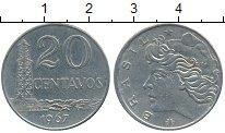 Изображение Дешевые монеты Бразилия 20 сентаво 1967
