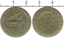 Изображение Дешевые монеты Италия 200 лир 1992