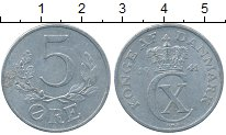 Изображение Дешевые монеты Дания 5 эре 1941