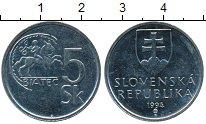 Изображение Дешевые монеты Словакия 5 крон 1994