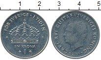 Изображение Дешевые монеты Швеция 1 крона 2001