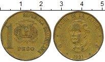 Изображение Дешевые монеты Доминиканская республика 1 песо 1991