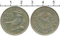 Изображение Дешевые монеты Кипр 20 центов 1983 Латунь VF