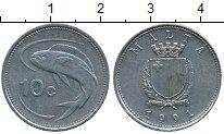 Изображение Дешевые монеты Мальта 10 центов 1991