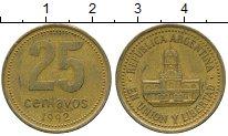 Изображение Дешевые монеты Аргентина 25 сентаво 1992