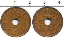 Изображение Дешевые монеты Дания 2 эре 1938
