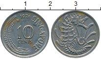 Изображение Дешевые монеты Сингапур 10 центов 1976