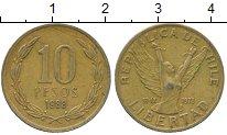 Изображение Дешевые монеты Чили 10 песо 1988 Латунь VF+
