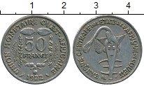 Изображение Дешевые монеты Французская Западная Африка 50 франков 1972