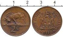 Изображение Дешевые монеты ЮАР 2 цента 1970
