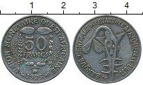 Изображение Дешевые монеты Французская Западная Африка 50 франков 1975