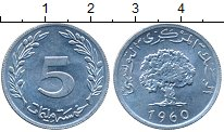 Изображение Дешевые монеты Тунис 5 миллим 1960