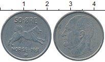 Изображение Дешевые монеты Норвегия 50 эре 1961