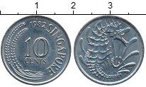 Изображение Дешевые монеты Сингапур 10 центов 1982