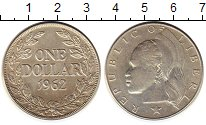 Изображение Монеты Либерия 1 доллар 1962 Серебро XF