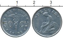Изображение Дешевые монеты Бельгия 50 сентим 1923 Медно-никель VF+
