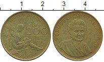 Изображение Дешевые монеты Италия 200 лир 1980 Латунь XF-