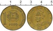 Изображение Дешевые монеты Доминиканская республика 1 песо 1992 Латунь XF