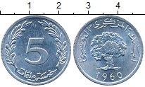 Изображение Дешевые монеты Алжир 5 сантим 1960 Алюминий XF
