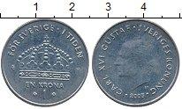 Изображение Дешевые монеты Швеция 1 крона 2005 Медно-никель XF
