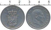 Изображение Дешевые монеты Дания 1 крона 1963 Медно-никель XF-