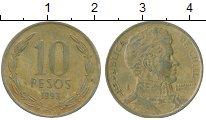 Изображение Дешевые монеты Чили 10 песо 1993 Латунь VF+