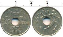 Изображение Дешевые монеты Испания 25 песет 1991 Латунь VF-