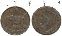 Изображение Дешевые монеты Великобритания 1 фартинг 1939 Медь XF-