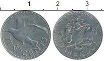 Изображение Дешевые монеты Барбадос 10 центов 1987 Медно-никель XF-