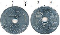 Изображение Дешевые монеты Дания 25 эре 1973 Медно-никель VF+