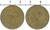 Изображение Дешевые монеты Танзания 20 сенти 1976 Медь VF+