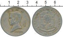 Изображение Дешевые монеты Филиппины 1 писо 1972 Медно-никель VF
