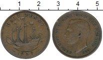 Изображение Дешевые монеты Великобритания 1/2 пенни 1939 Медь VF