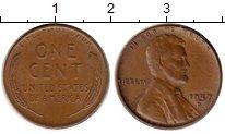 Изображение Монеты США 1 цент 1957 Бронза XF