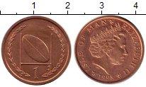Изображение Монеты Великобритания Остров Мэн 1 пенни 1998 Бронза UNC-