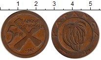 Изображение Монеты Катанга 5 франков 1961 Бронза XF