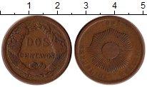 Изображение Монеты Перу 2 сентаво 1885 Медь VF+