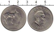 Изображение Монеты Замбия 2 шиллинга 1966 Медно-никель UNC-