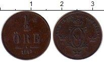 Изображение Монеты Швеция 1/2 эре 1867 Медь XF