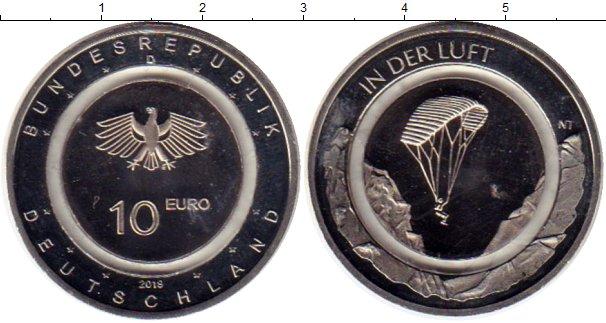 Картинка Мелочь Германия 10 евро Медно-никель 2019