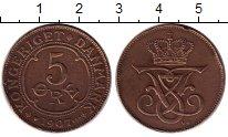 Изображение Монеты Дания 5 эре 1907 Бронза VF