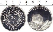 Монета Турция 20 лир Серебро 2005 Proof- фото