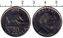 Изображение Монеты Малави 20 тамбала 1996 Медно-никель UNC