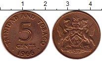 Изображение Монеты Тринидад и Тобаго 5 центов 1966 Бронза XF