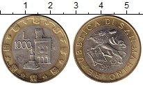 Изображение Монеты Сан-Марино 1000 лир 1997 Биметалл UNC-