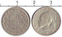 Изображение Монеты Либерия 10 центов 1961 Серебро VF