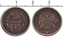 Изображение Монеты Уругвай 10 сентесим 1895 Серебро XF