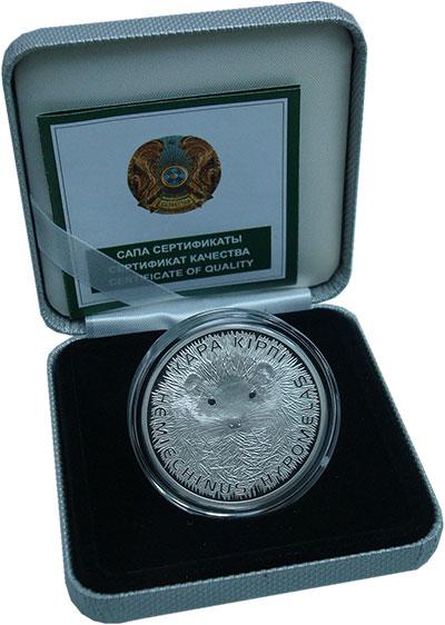 Изображение Подарочные монеты Казахстан 500 тенге 2013 Серебро Proof Красная книга Казахс