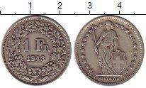 Изображение Монеты Швейцария 1 франк 1943 Серебро XF-