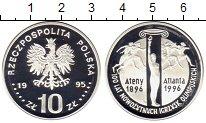 Монета Польша 10 злотых Серебро 1995 Proof фото